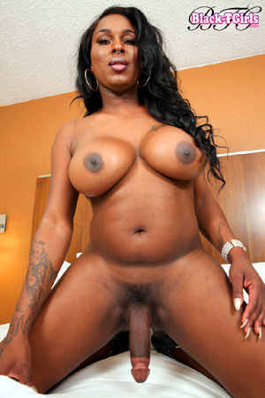 Black transsexual with huge dick