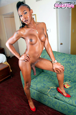 Hot Bodied Amateur Black Tranny Cock
