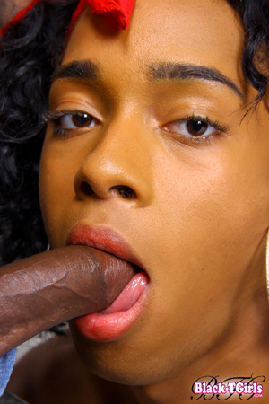 Hung Shemale Blowjob and Cum in Mouth