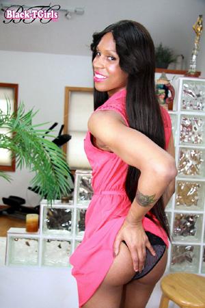 Ebony Shemale Upskirt Panty Pervert