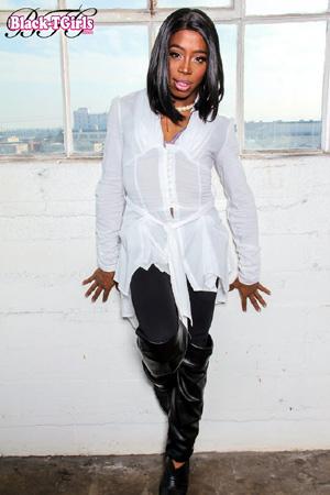 Mature Ebony Shemale Tugjob