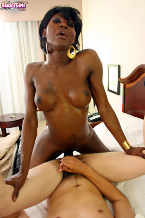 Hung Black Trannies Fucking in Ripped Pantyhose