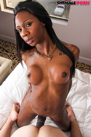 Ebony Tranny White Dick