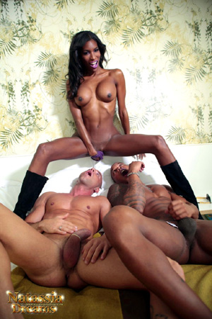 Interracial Shemale Anal Creampie
